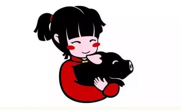 对,没有看错,我就是小女孩手中的那头乌黑亮丽的小黑猪.